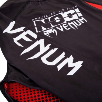 Рашгард Venum No Gi IBJJF Long Sleeves - Black/Red | Фото 7