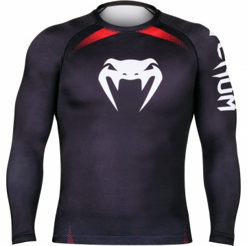 Рашгард Venum No Gi IBJJF Long Sleeves - Black/Red