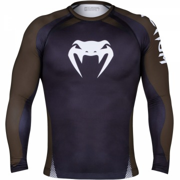 Рашгард Venum No Gi IBJJF Long Sleeves - Black/Brown