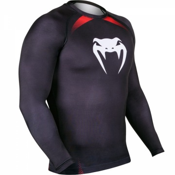 Рашгард Venum No Gi IBJJF Long Sleeves - Black/Red | Фото 3