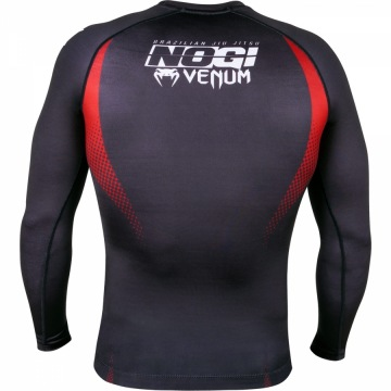 Рашгард Venum No Gi IBJJF Long Sleeves - Black/Red | Фото 1