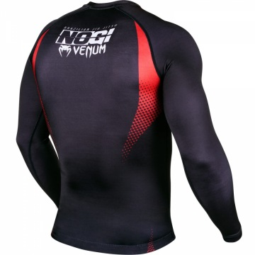 Рашгард Venum No Gi IBJJF Long Sleeves - Black/Red | Фото 5