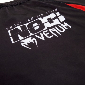 Рашгард Venum No Gi IBJJF Long Sleeves - Black/Red | Фото 10