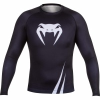 Рашгард Venum Challenger Long Sleeves - Black/White