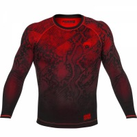 Рашгард Venum Fusion Long Sleeves - Black/Red
