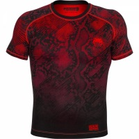 Рашгард Venum Fusion Short Sleeves - Black/Red