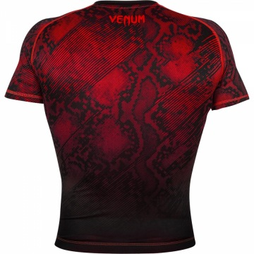 Рашгард Venum Fusion Short Sleeves - Black/Red | Фото 3