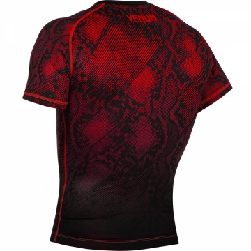 Рашгард Venum Fusion Short Sleeves - Black/Red | Фото 4