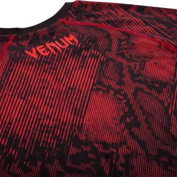 Рашгард Venum Fusion Short Sleeves - Black/Red | Фото 10