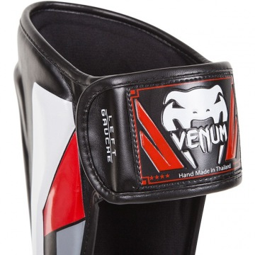 Шингарды Venum Elite - Black/Red/Grey | Фото 3