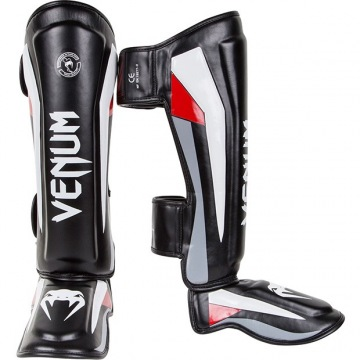 Шингарды Venum Elite - Black/Red/Grey