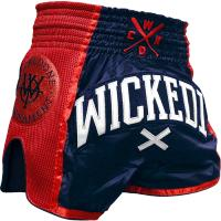 Шорты Муай Тай Wicked One W.O.T - Navy/Red